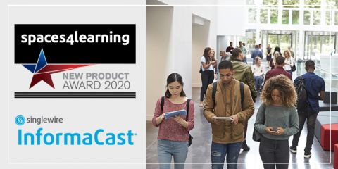 Spaces4learning-new-product-of-the-year-InformaCast-mass-notification-Award