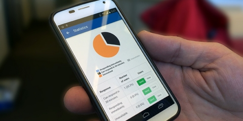 emergency notification mobile app with sms text notifications and confirmation