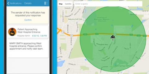 location based emergency notification mobile app