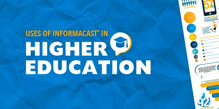 emergency notification for higher education infographic